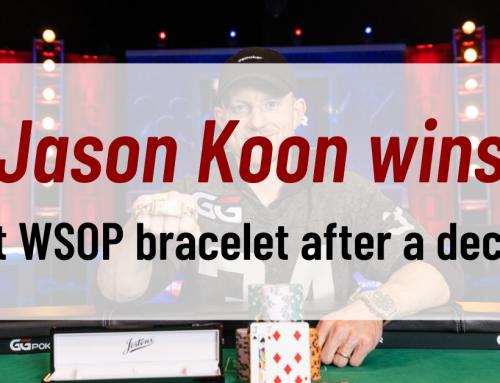 Jason Koon wins first WSOP bracelet after a decade