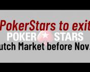 PokerStars to exit Dutch Market Before Nov. 1